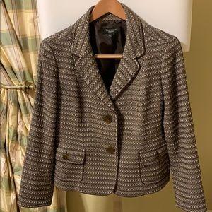 Classic Brown/Tan Tweed Wool/Cotton Jacket